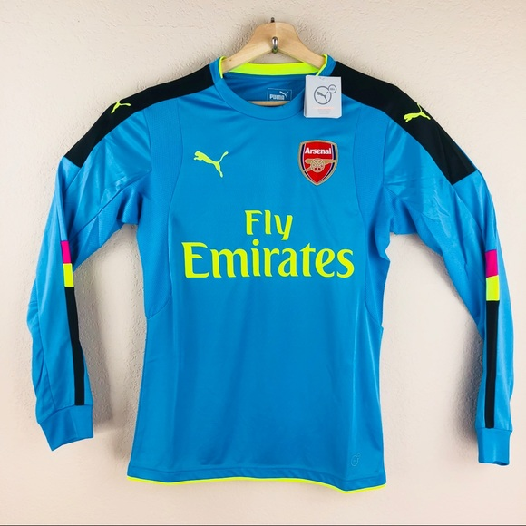 huge selection of 97c1c 3e7d9 Puma Arsenal FC GK Longsleeve Jersey NWT